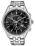 Citizen, orologio da polso da uomo, con cronografo, al quarzo, in acciaio inox, AT2141-87E