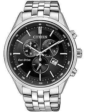Citizen Herren-Armbanduhr Chronograph Quarz Edelstahl AT2141-87E