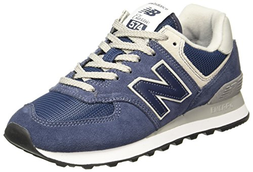 New Balance Damen Sneaker,WL574EN, Blau (Navy), 41.5 EU