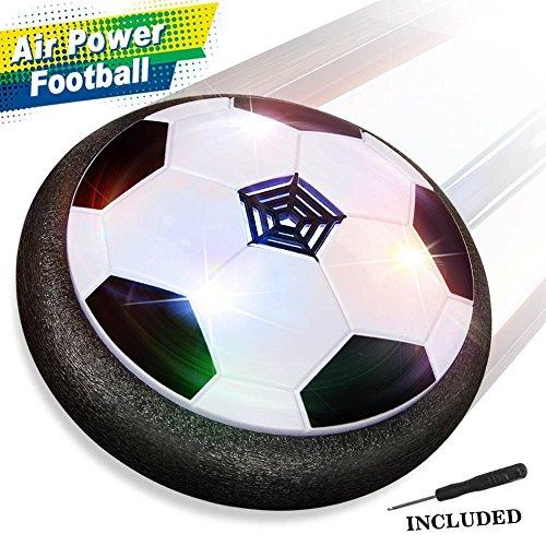 Air Hover Ball Calcio da Interno - Baztoy Pallone da Calcio Fluttuante con LED per Giocare in Casa