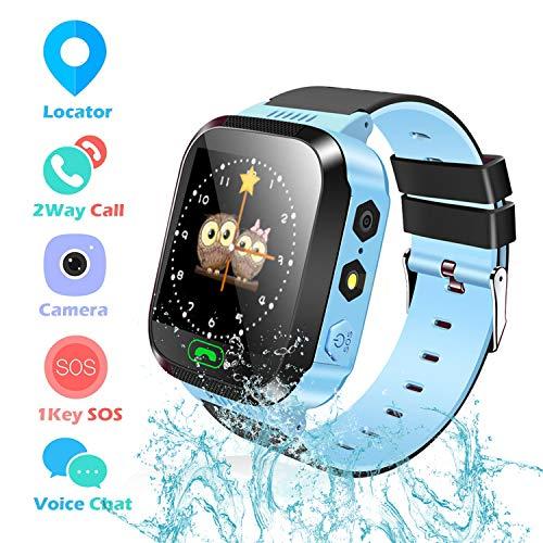 Reloj Inteligente Smartwatch para niños, rastreador de ubicación GPRS + LBS, Reloj...