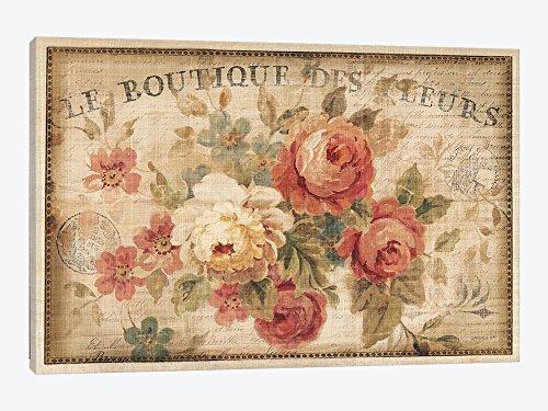 iCanvasART wac268Parisian Flowers III Leinwand Kunstdruck Danhui Nai, 26von 18, 3,8cm tief