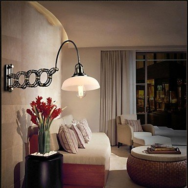 Creative Vintage Industrial Restaurant Bedroom Staircase Aisle Lamp Telescopic Iron Wall Lamps
