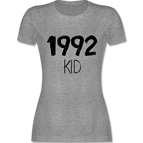 Geburtstag - 1992 KID - tailliertes Premium T-Shirt mit Rundhalsausschnitt für Damen Grau Meliert