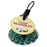 Glass Marbles - set containing approx 1 Large & 18 Small \