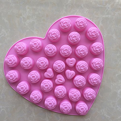 Rose Silikon Form Schimmel DIY Kuchenverzierung Schimmel Blume Silikon Schokoladenform, Rosa