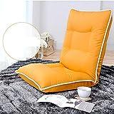 L-R-S-F Faul Sofa Einzigen Casual Kleinen Sofa Stuhl Kreative Klappbett Zurück Stuhl Wohnzimmer (Farbe : Orange.)