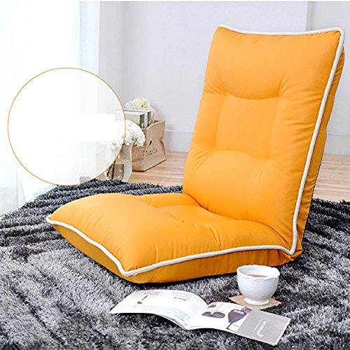 L-R-S-F Canapé paresseux unique occasionnel petit canapé chaise Creative lit pliant arrière chaise salon (Couleur : Orange.)