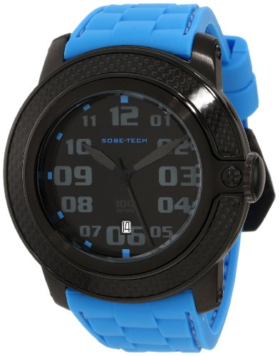 Glam Rock Men's GR33000 SoBe Black Dial Blue Silicon Watch