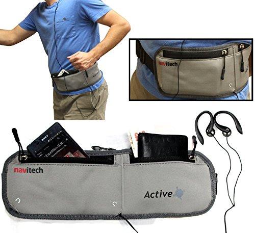Navitech Smartphone Wasser Widerständiges Neoprene Sport / Jogging / Lauf Fitness gürtel / Bauchtasche in grau für dasMotorola Moto Z Play Motorola Pda