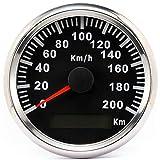 ELING Contachilometri GPS impermeabile 200KM/H per buggy moto auto con retroilluminazione 85mm 12V/24V