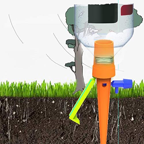TianranRT★ Tropfbewässerungsgefäß,Automatisches Automatisches Bewässerungssystem Des Blumentropfensystems Des Praktischen Abschnitts Der Pflanzen,Orange