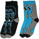 y1h413de Barrio Sésamo Monstruo de las galletas para hombre calcetines (tamaño 6–11, pack de 2)