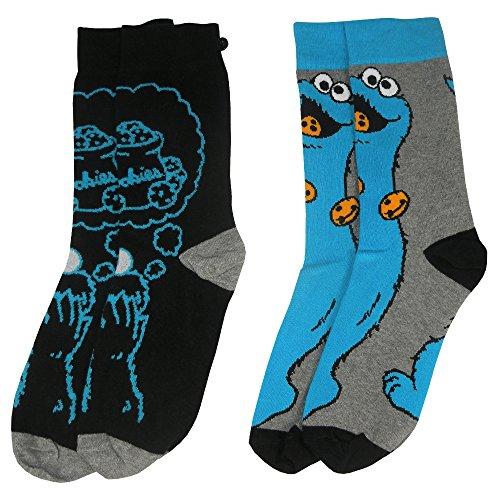 Preisvergleich Produktbild Sesam Street y1h413 Cookie Monster Herren Socken (Größe 6–11,  2 Stück)