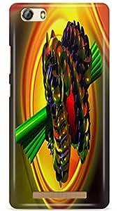 PCM High Quality Printed Designer Polycarbonate Hard Back Cover for Gionee Marathon M5 Lite - Matte Finish - Color Warranty - 0931