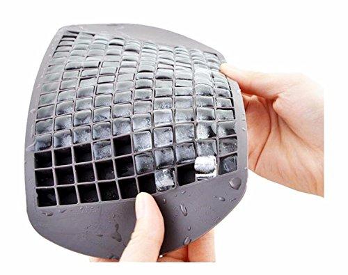 Aohang Eiswürfel-Form aus flexiblem Silikon für 160Mini-Eiswürfel grau