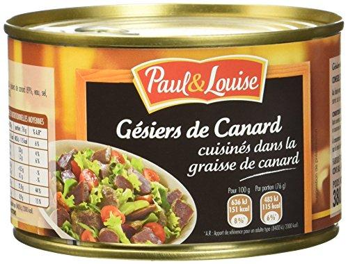 Paul & Louise Gésiers de Canard Cuisinés dans la Graisse de Canard 380 g - Lot de 3