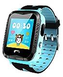 Kids Smart Watch GPS Tracker anti-perso SOS esterna impermeabile orologi sportivi blu