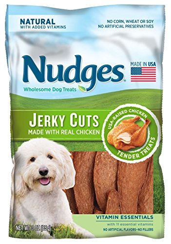 Nudges Premium Jerky Cuts with Chicken, Vitamin Essentials, 3 Ounce by Nudges -