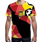 BesserBay Herren Deutschland Fan-Shirt WM 2018 Fußball Motiv Sport Trikot Rundhals S