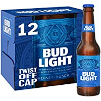 Bud Light Lager Bottle, 12 x 300ml