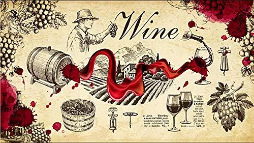 Glorious.Q Wein Rotwein Fototapete Kinderzimmer,Bar Weingut Tapete Fototapeten, Wohnzimmer Fernseher Sofa Hintergrund Tapete 350(W) X260(H) cm