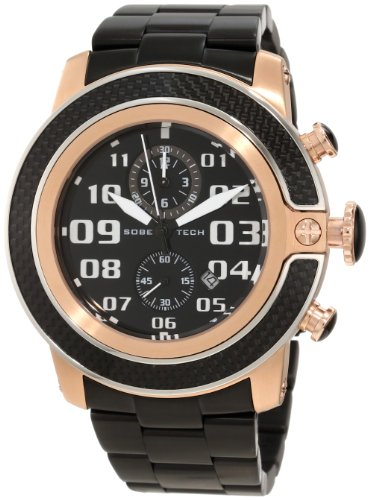 Glam Rock Men's GR33103 SoBe Chronograph Black Dial Black Ion-Plated Stainless Steel Watch