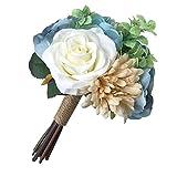 Chinashow Braut Hochzeit Bouquet Blumensträuße Künstliche Blumen Hochzeit Dekoration, Blau