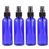 globalqi Reise Flaschen 4100ml Fine Mist Kunststoff tragbare Spray Flasche rund Schulter Pet Cosmetics sub-bottle Probe Flasche Füllung Essence Toning Wasser geeignet für Reisen Business Camping blau