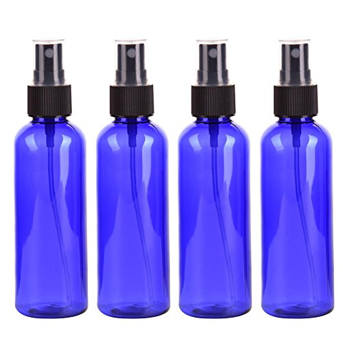 Kunststoff Feinnebel Spray Travel Bottle Set Plastikflasche Runde PET Kosmetik Toilettenartikel Flüssigkeit Aufgeteilte Flasche Probe Flasche 4 STÜCKE - 100 ML ()