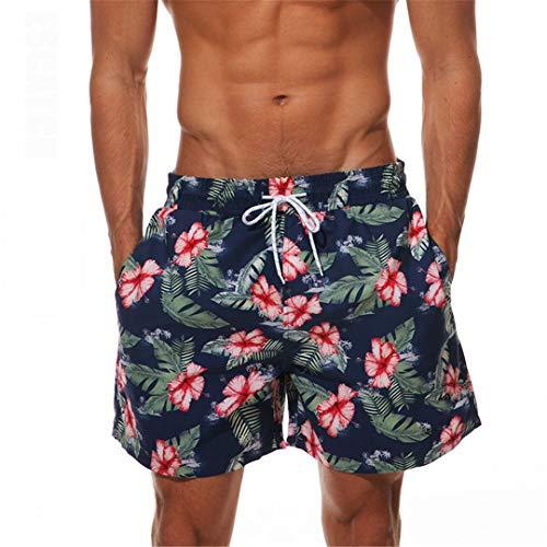 D&CiCiRi Schnell trocknende Boardshorts Herren Beach Short Bermuda Shorts Red Flower XXL -