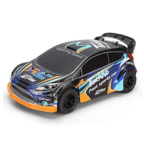 Mpotow 35km / h High-Speed   1:24 Fernbedienung Rennwagen Metall Chassis Allradantrieb Elektro Drift Pull Auto 2,4 GHzElectric Brushed 4WD RC Rally Car RTR Kinder Geschenk (1 24 Drift Rc Car)