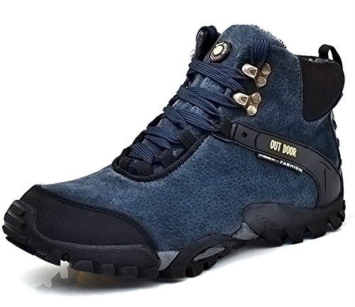 NEOKER Botas Senderismo Hombre Calzado Montaña Zapatos Trekking Azul 43