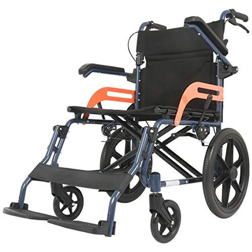 DTXDZXCJBC Lite Aluminium Rollstuhl, Leichter Manueller Rollstuhl, Ergonomischer Ultra Aluminium Klapprollstuhl Mit Abnehmbaren Fußstützen