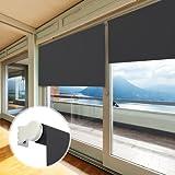 casa pura® Verdunkelungsrollo - lichtundurchlässig - für breite Fenster in