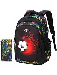 Mochila Para Niños Impresión De Fútbol Mochila De Dibujos Animados Bolsos  Para Niños Y Niñas De 25a4604a874b6