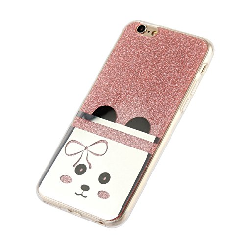 "MOONCASE iPhone 6s Coque, Bling Glitter Motif Etui TPU Silicone Antichoc Housse Case pour iPhone 6 / iPhone 6s (4.7"") (Ours - Or) Hibou - Rose"