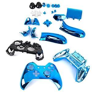 Blau Schutzhülle Volle Gehäuseschale Fall Kit Ersatzteile für Xbox One Wireless Controller