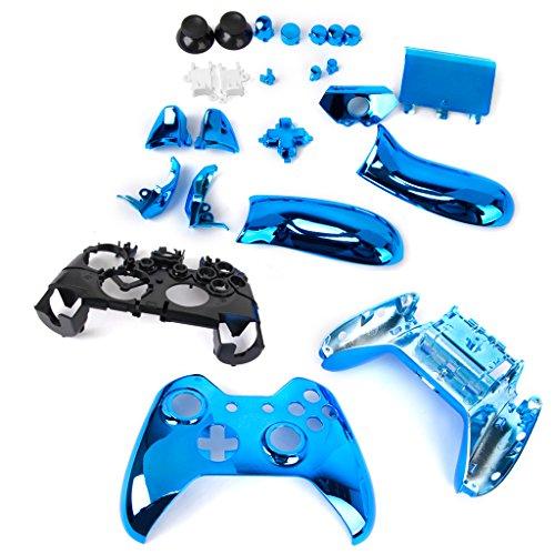 Almencla Verchromt Volle Gehäuseschale Fall Kit Teile Für Xbox EIN Wireless Controller - Blau