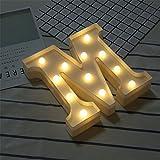 DIY LED Brief Beleuchtung Alphabet Event Dekoration Nachtlichter Stimmungslicht Schlummerleuchten Lampen Kunststoff Dekorationen für Geburtstag Party Hochzeit (M)