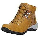 Kraasa Men's Beige Synthetic Boot - 7