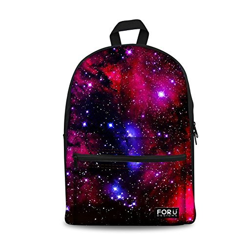 HUGSIDEA Galaxy Laptop Backpack Girls School Bag