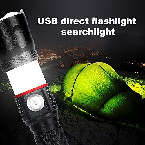 Ebestus - Linterna LED recargable USB
