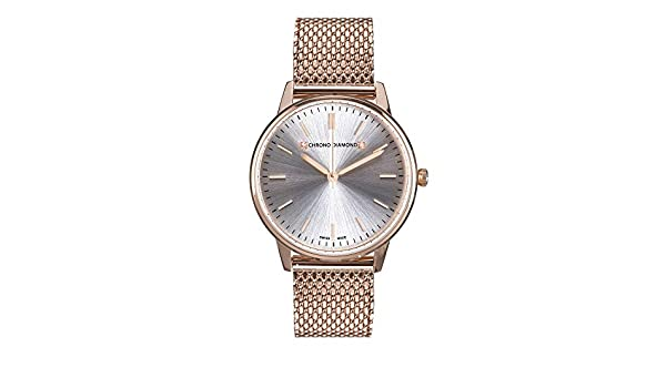 12710E Chrono Diamond Zelya roseoro IP argento: Amazon.it