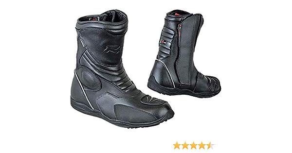 Biesse Motorradstiefel Enduro Touring Aus Echtem Leder Größe 39 47 Wasserdicht Schwarz Ce Schwarz Schuhe Handtaschen