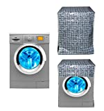 #7: Yellow Weaves Waterproof & Dust-proof Front Load Fully Automatic Washing Machine Cover for Only 6.5Kg ,7Kg,7.5Kg,8Kg- Brown Color