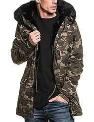 Sixth June - Blouson homme camouflage long fourré et capuche