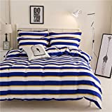 Ahmedabad Comfort 160 TC Cotton Bedsheet with 2 Pillow Covers - Striped, King Size, Multicolour