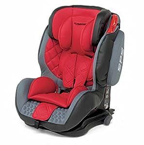 Foppapedretti Isodinamyk Seggiolino Auto, Gruppo 1/2/3 (9-36kg), per Bambini da 9 Mesi fino a 12 Anni, Rosso