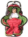 ByBoom - Ganzjahres Fußsack Cocoon für Kinderwagen, Buggy auch Babyschale z.B. Maxi-Cosi; MADE IN EU, Farbe:Rot/Grün